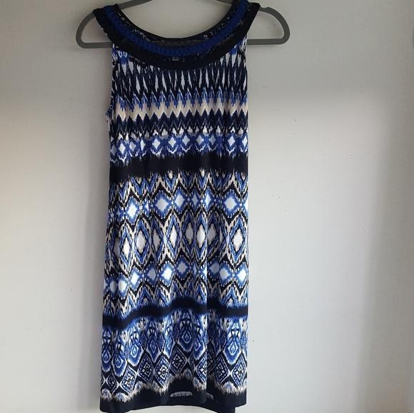 Sandra Darren Dresses & Skirts - Multi-pattern Geometric Dress| Sandra Darren